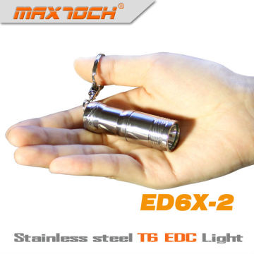 Maxtoch ED6X-2 EDC кри T6 нержавеющей стали мини светодиодный фонарик брелок
