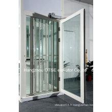 Ascenseur de villa porte floding blanc