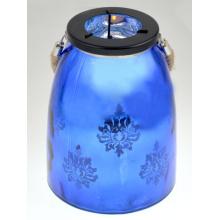 2015 Lanterna de vidro em azul