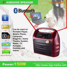 Orador portátil do bluetooth FM do karaoke elegante