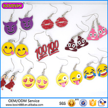 Guangzhou Factory Wholesale Red Lips Earring, Emoji Theme Earring