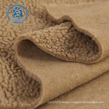 Fancy design wholesale 300gsm 100%polyester sherpa fleece blanket fabric