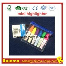 Plástico mini jeringa promoción resaltador