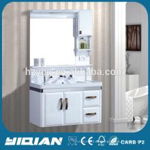 Diseño moderno montado en la pared PVC impermeable de plástico vanidad unidades de baño