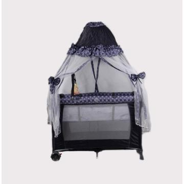 Tent Shape Baby Playpen Gaming with Baby Bed