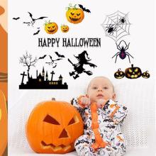 Pegatinas decorativas de calabaza de Halloween PVC pegatinas personalizadas decoración de la pared