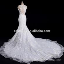 Kundengebundene gestickte Blumen Meerjungfrau Brautkleid Brautkleid