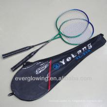2015 nuevo llega raqueta de bádminton especializada Wholrsale negro y verde hierro XL210