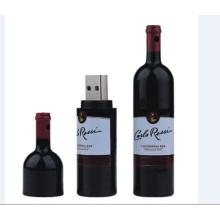Garrafa de vinho criativa USB Flash Drive