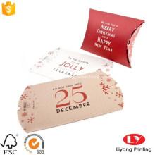 Embalagem de caixa de travesseiro de presente de Natal personalizado adorável