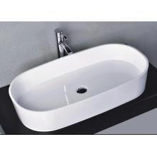 Элегантный квадратный счетчик Верх глянцевый белый мраморный бассейн (BS-8307)