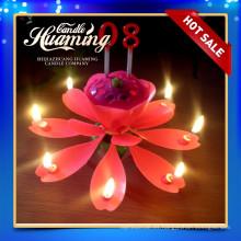 Vela de cumpleaños de la flor productos calientes de la venta vela de cumpleaños