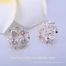 Boucles d'oreilles de fournisseur de bijoux de pierres précieuses saphir bleu naturel