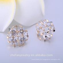 Brincos de fornecedor de jóias de pedra preciosa natural azul safira