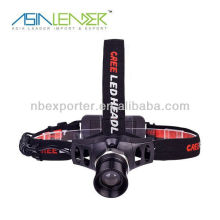 3W CREE LED High Power Zoom Lampe frontale