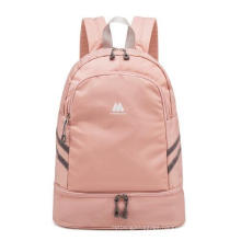 Foldable Dry and Wet Separation Travel Backpack Double Layer Duffel Bag Backpack