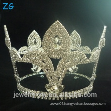 Fashion Design Diamond Round Pageant Tiara crowns for men bridal tiara