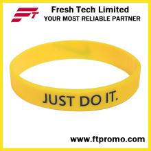 Venda Por Atacado pulseira de silicone de design personalizado