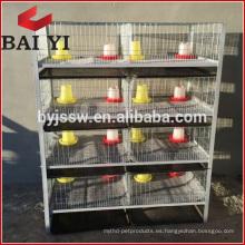 H Type 4 Layer Baby Chicken Jaula / Brooder / Day Old Jaulas de pollo a la venta
