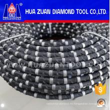 Sierra de hilo de corte de diamante recubierto de caucho para canteras de piedra