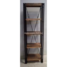 Industrial Urban Loft Wooden Metal Bookshelf