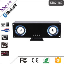 BBQ KBQ-169 20W 3000mAh LED Marquee Lighting Subwoofer Mini Bluetooth Speaker with FM Radio