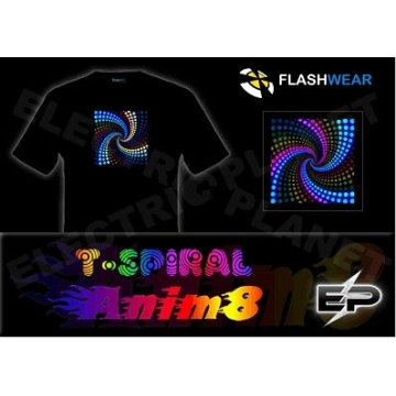 [Stunningly]Wholesale 2009 fashion hot sale el T-shirt A102,el t-shirt,led t-shirt