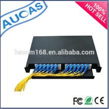 Montagem em parede fibra óptica Painel de Patch / painel de patch de fibra óptica de 24 portas / painel de patch de fibra óptica systimax