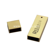Business gifts zinc alloy Gold plating USB Shell with Logo