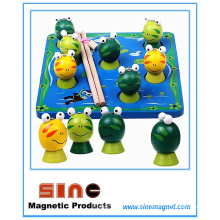Wooden Magnetic Fishing Frog Toy/ Educational Toy
