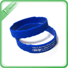 Custom Fashion Design New Style Colorful Silicon Wristband for Wholesale
