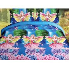 Das Mädchen liebt rosa Fee in den blühenden Sträuchern Design Pfirsich farbigen Tröster Sets