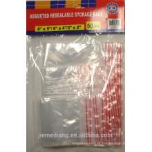 JML opp saco de embalagem de plástico resealable para alimentos com boa qualidade
