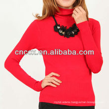 13STC5126 turtleneck women pullover latest designer tunics