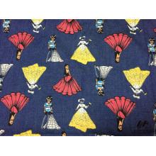 100% Baumwolle gedruckt Denim-Kleid