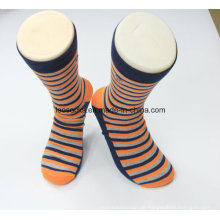 Einfachen Stil Großhandel Striped Cotton Fashion Business Männer Socken