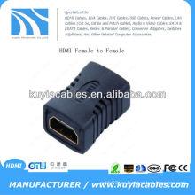HDMI hembra a HDMI hembra adaptador convertidor de vídeo HDTV GOLD