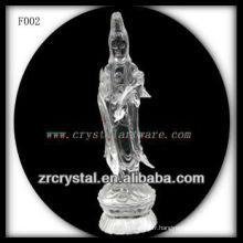 K9 Cristal Sculpté à la main Déesse de la Miséricorde