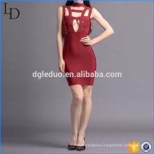 Wholesale club dress fashion high-neck hollow out sexy women party dress