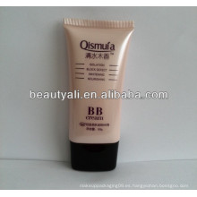 Super plano cosméticos BB tubo de crema