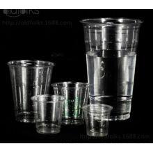 Tazas plásticas disponibles de alta calidad de Pet / PP para el jugo / la taza disponible