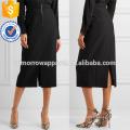 Nova Moda Preto Flexível Hopsack Verão Mini Saia Diária DEM / DOM Fabricação Atacado Moda Feminina Vestuário (TA5001S)