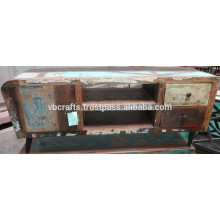Art Deco TV Unit recycle wood