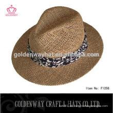 Angelica Stroh Boater Panama Hut mit Band zum Verkauf für Männer