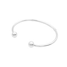 Sterling Silver Ball Ends Bracelet Bracelet Mère Cadeau