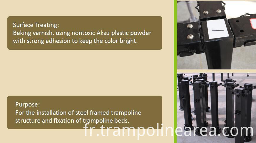 steel parts of trampoline park equipment for sale