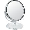 Runder Tisch Metall Chrom-Make-up-Spiegel