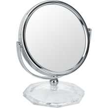 Round Table Metal Chrome Makeup Mirror