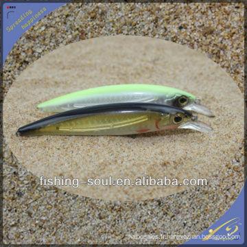 MNL036 12CM / 13G Minnow dur en plastique emballage de leurre de pêche