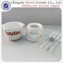 Customized Ceramic Chocolate Fondue Set